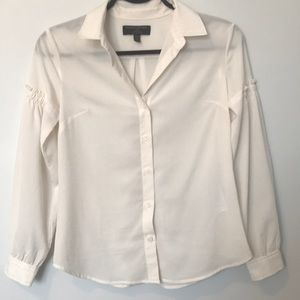 Banana Republic Off White Dress ShIrt